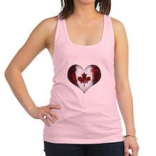 Canadian heart 2 Racerback Tank Top