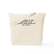 Funny Worried Tote Bag