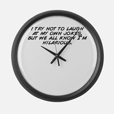 Cute Laugh Large Wall Clock
