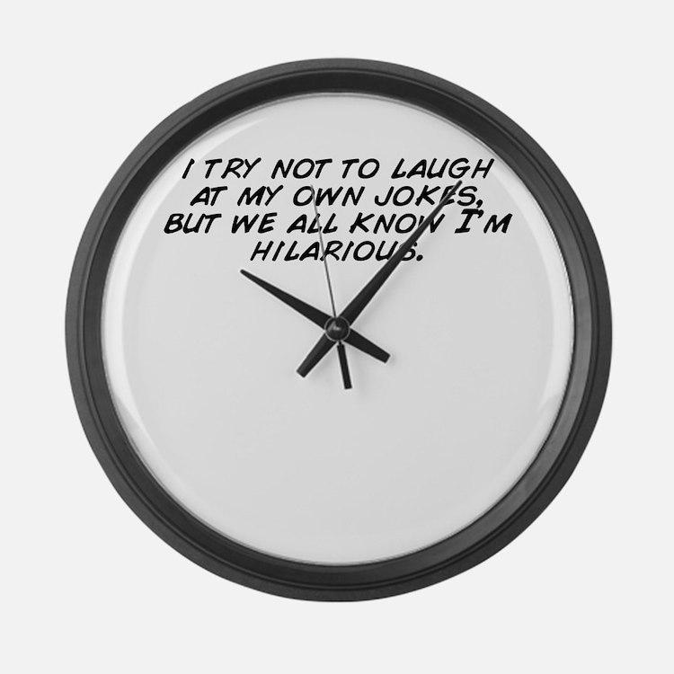 Cute Jokes Large Wall Clock