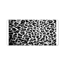 Cute Leopard print Aluminum License Plate