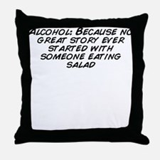 Funny Story Throw Pillow