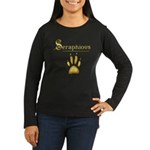 Seraphious Print Women's Long Sleeve Dark T-Shirt