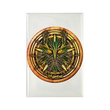 Reed Celtic Greenman Pentacle Rectangle Magnet
