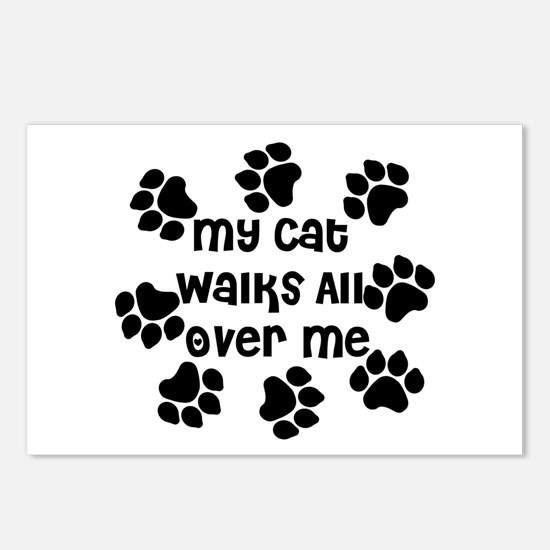 Cat Walks all over Me Postcards (Package of 8)