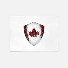 Canadian Graffiti Shield 5'x7'Area Rug