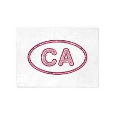 CA Pink 5'x7'Area Rug