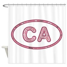 CA Pink Shower Curtain