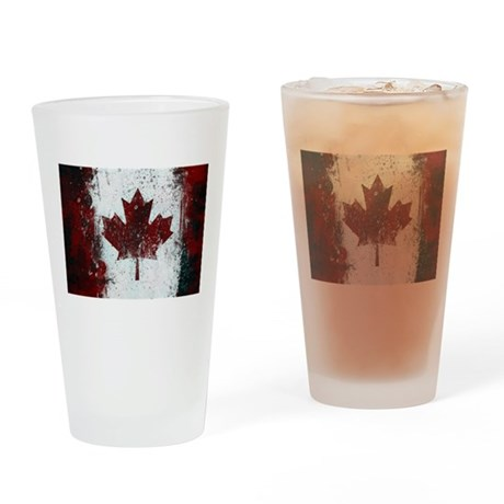Canadian Poster 1 Drinking Glass