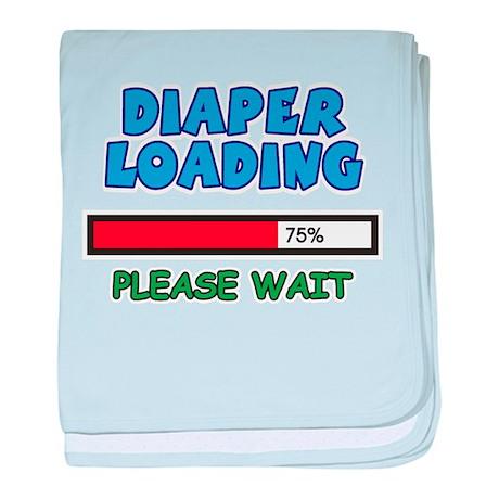 Diaper Loading, please wait baby blanket
