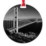 GG Bridge from Battery Spencer Round Ornament