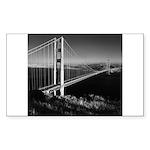 GG Bridge from Battery Spencer Sticker (Rectangle