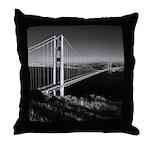 GG Bridge from Battery Spencer Throw Pillow