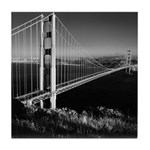 GG Bridge from Battery Spencer Tile Coaster