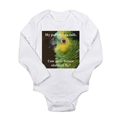 Blue-fronted Amazon Long Sleeve Infant Bodysuit
