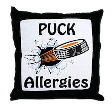 Puck Allergies Throw Pillow