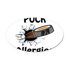 Puck Allergies Oval Car Magnet