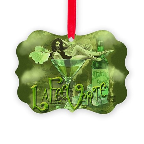 La Fee Verte In Glass Collage Picture Ornament