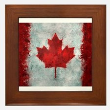 Canadian Abstract Poster Framed Tile