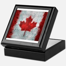 Canadian Abstract Poster Keepsake Box