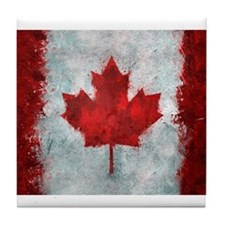 Canadian Abstract Poster Tile Coaster