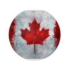 """Canadian Abstract Poster 3.5"""" Button"""