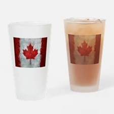 Canadian Abstract Poster Drinking Glass