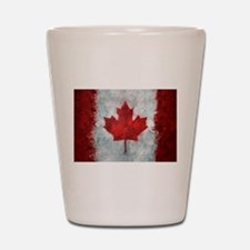 Canadian Abstract Poster Shot Glass