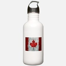 Canadian Abstract Poster Water Bottle