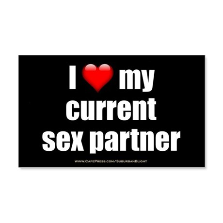 """Love Current Sex Partner"" 20x12 Wall Decal"