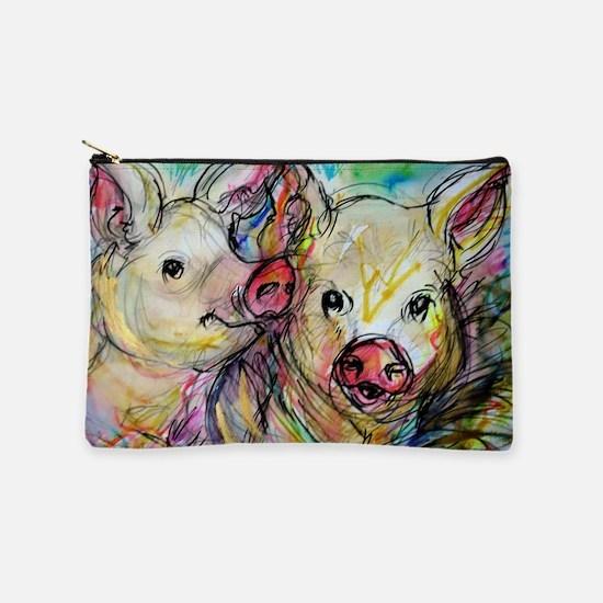 piglets, pig pair Makeup Pouch