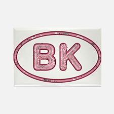 BK Pink Rectangle Magnet