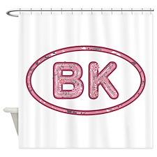 BK Pink Shower Curtain