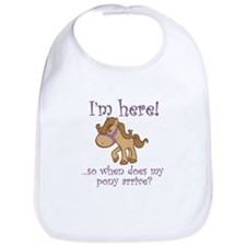 Cute I want a pony Bib