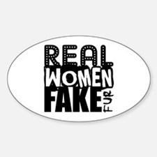 Real Women Fake Fur Decal
