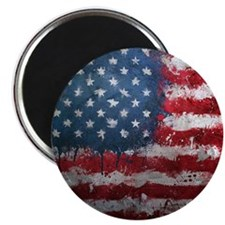 "American Grunge Button 2.25"" Magnet (10 pack)"