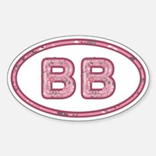 BB Pink Sticker (Oval)