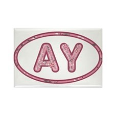 AY Pink Rectangle Magnet