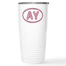 AY Pink Travel Mug