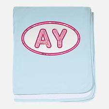 AY Pink baby blanket
