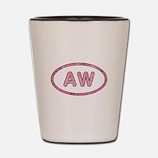 AW Pink Shot Glass