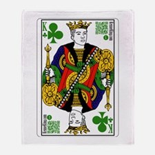 King of Clubs Throw Blanket