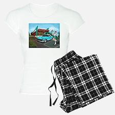 1957 Classic Car-Car Hop Pin-up Pajamas