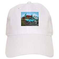 1957 Classic Car-Car Hop Pin-up Baseball Cap