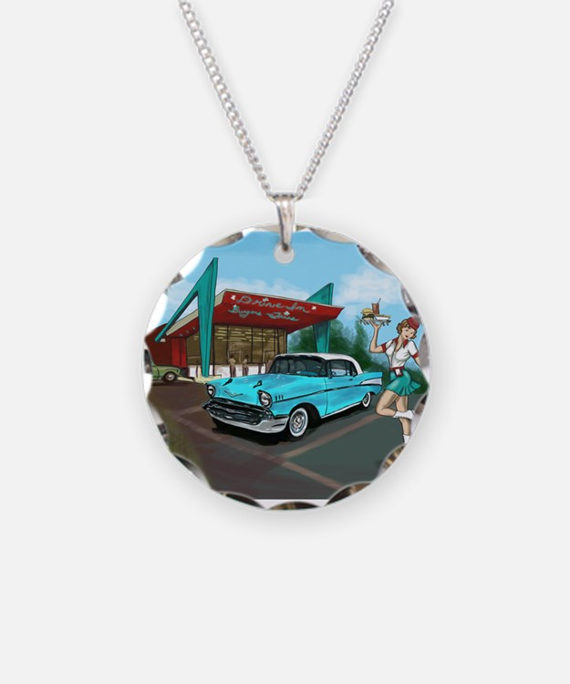 1957 Classic Car-Car Hop Pin-up Necklace