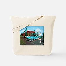 1957 Classic Car-Car Hop Pin-up Tote Bag