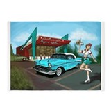 Classic cars 5x7 Rugs
