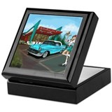 1950 chevy Square Keepsake Boxes