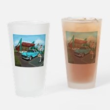 1957 Classic Car-Car Hop Pin-up Drinking Glass