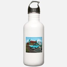 1957 Classic Car-Car Hop Pin-up Water Bottle